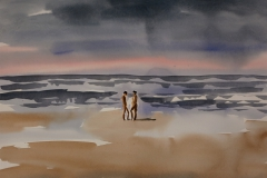 Paar-am-Strand-Aquarell-1997